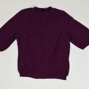 Lane Bryant Plus 26/28 Purple   Blouse Polyester s